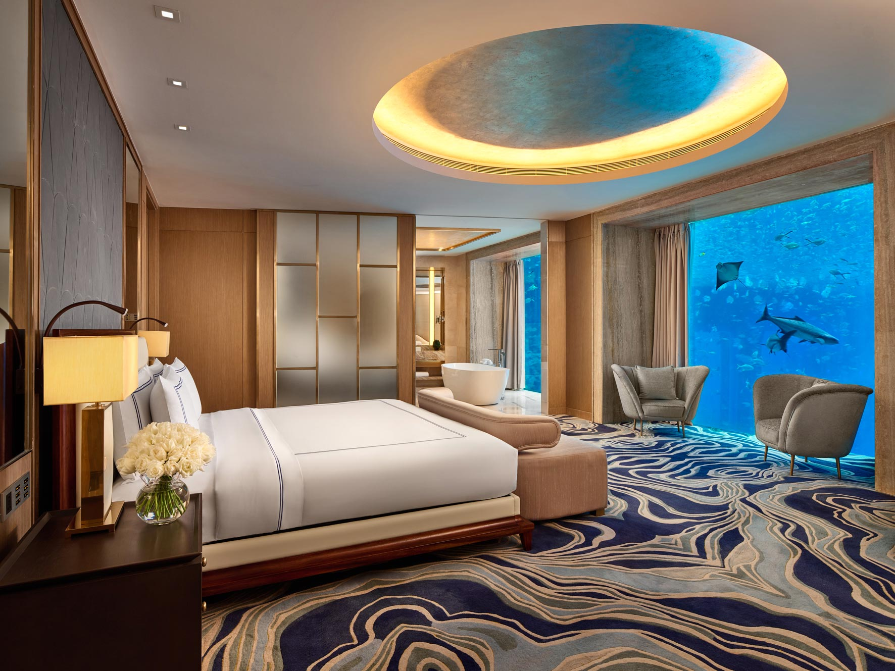 Atlantis Sanya Hotel, China. Architecture, hotel, interior photographer Singapore, China, Thailand, Malaysia. © Owen Raggett.