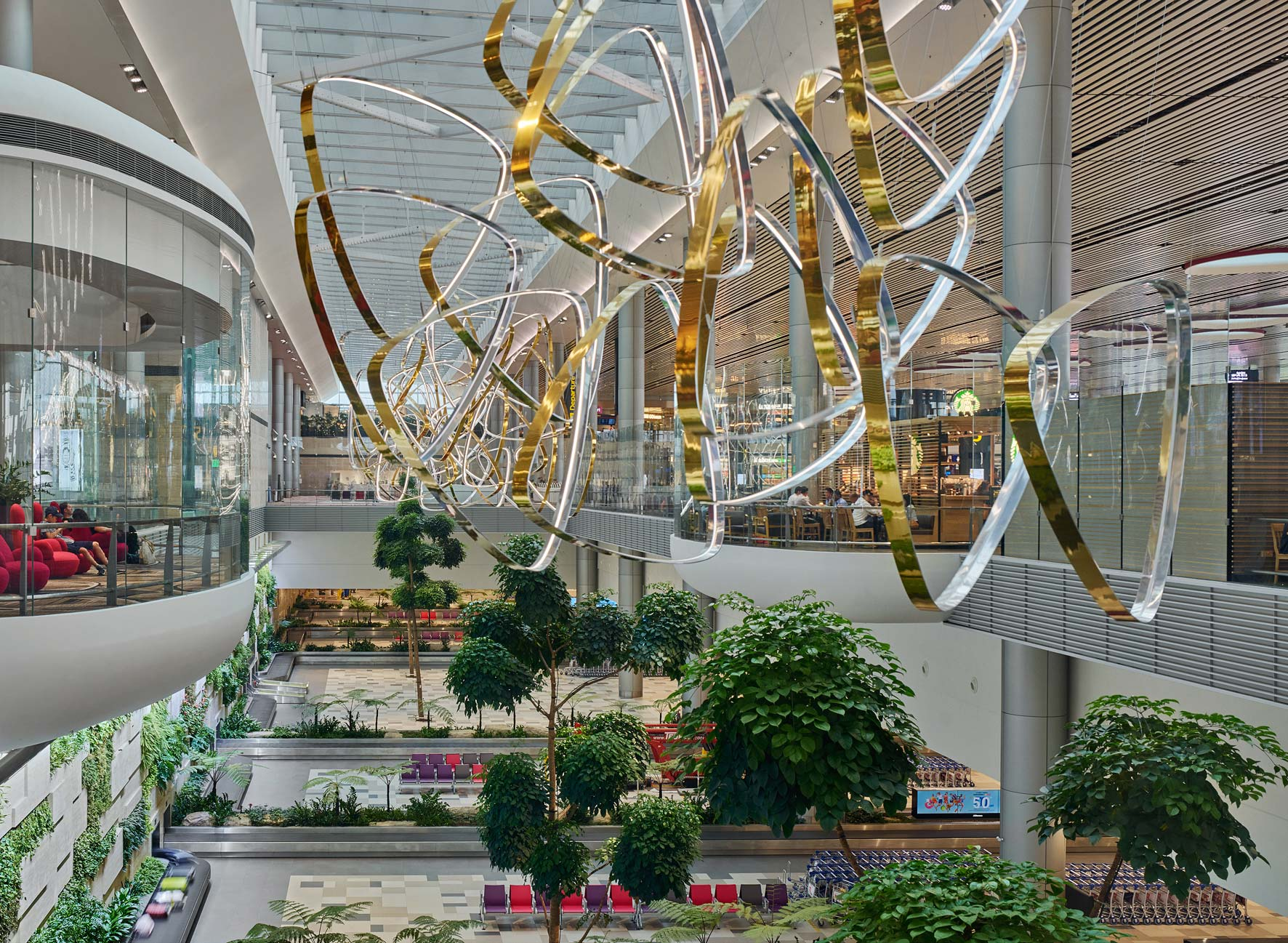 Changi Airport Terminal 4, Singapore. Architectural photographer Asia