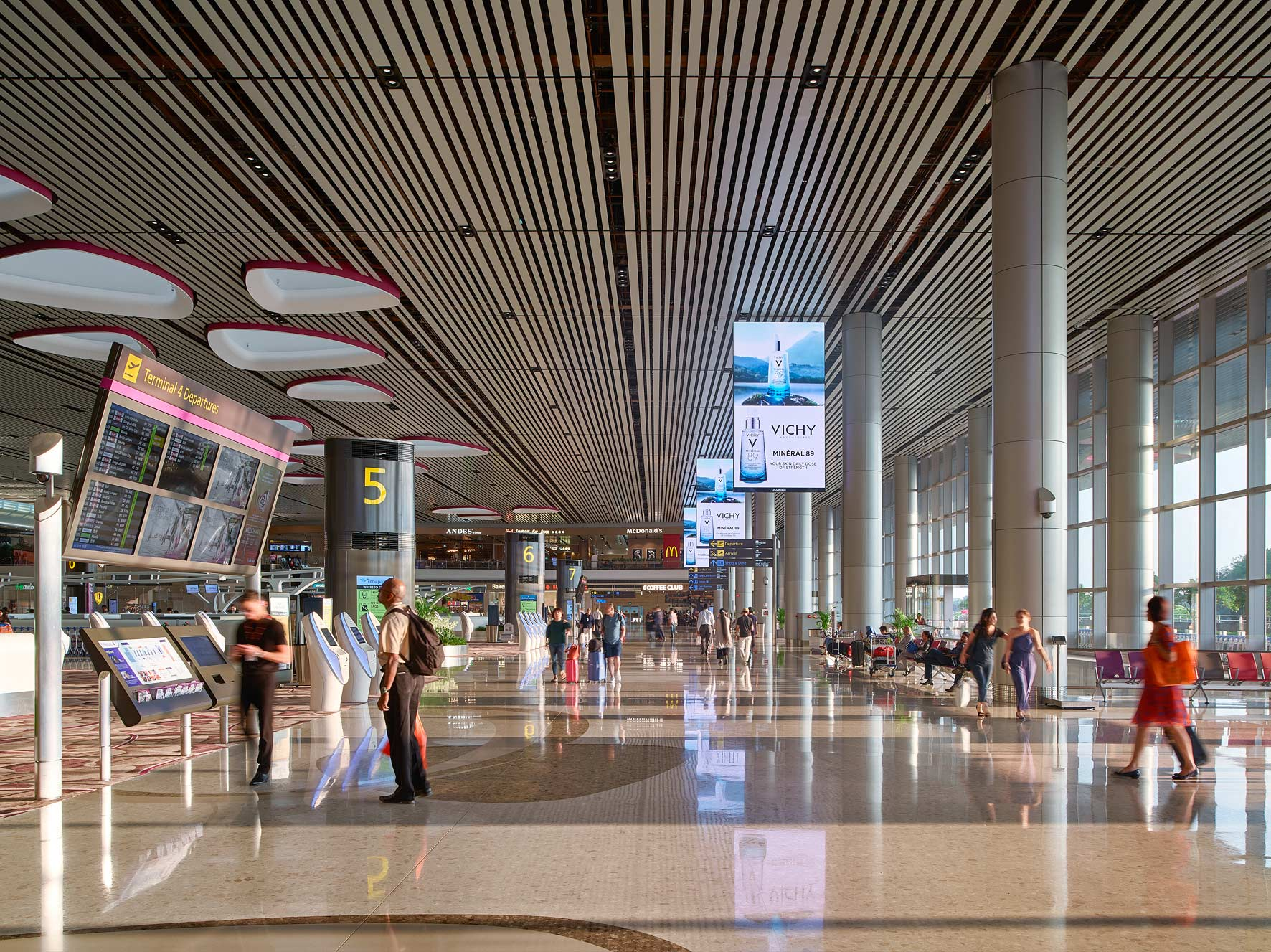 Owen Raggett. Architectural photographer, Singapore. Changi Airport Terminal 4, Singapore.