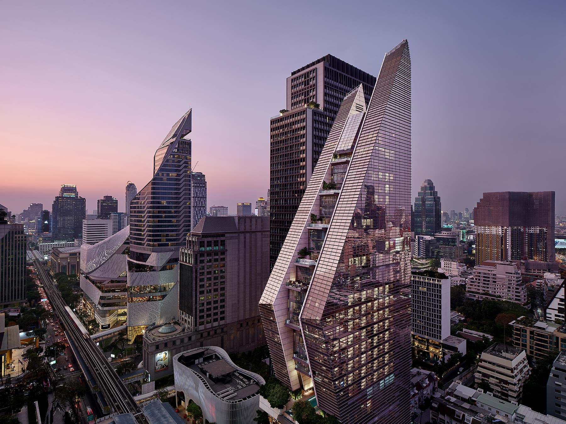 Rosewood Hotel, Bangkok, Thailand. Architectural photographer Asia