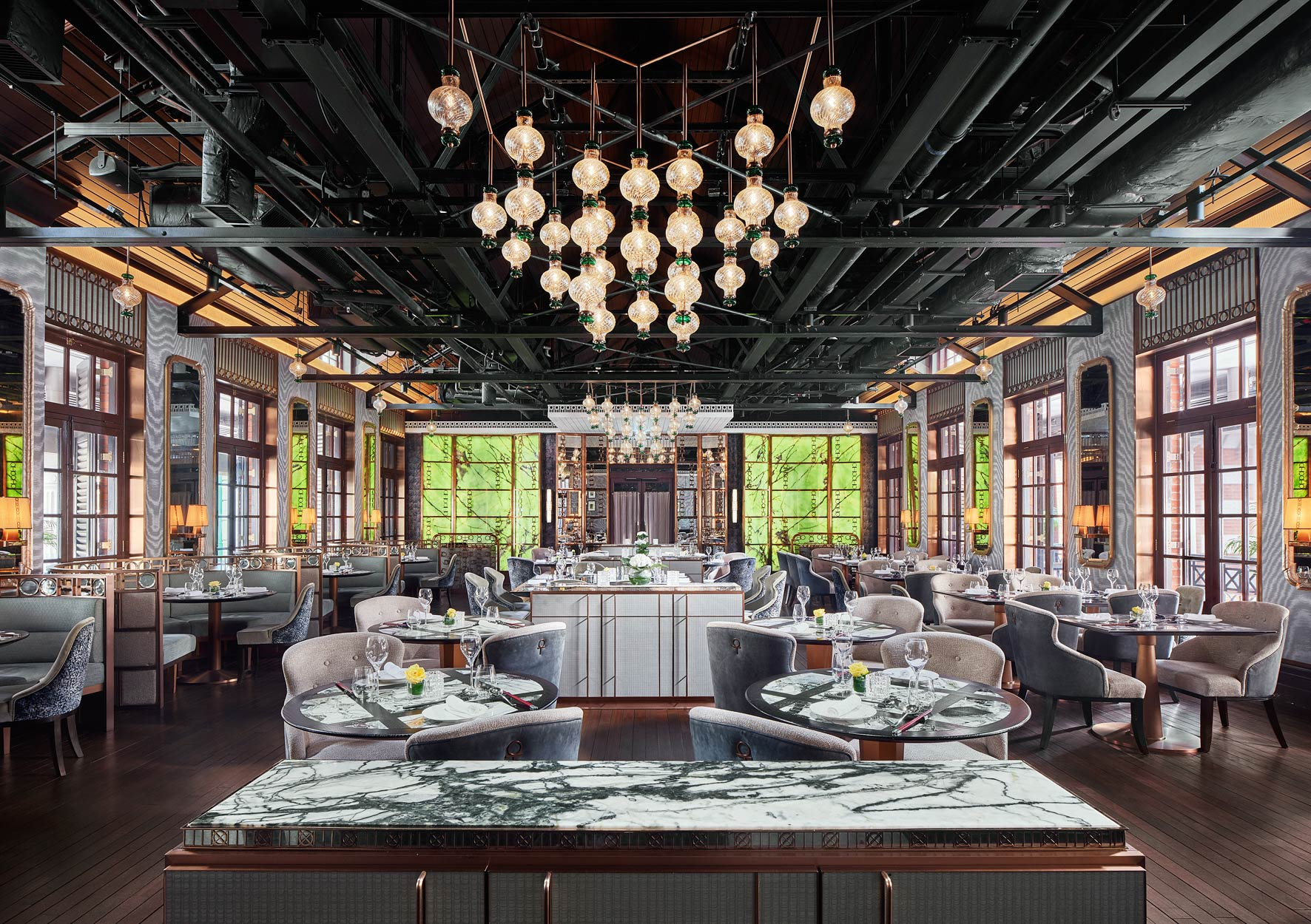 Owen Raggett,  architectural photographer Singapore. Tai Kwun Restaurant, Hong Kong. Architectural photographer Asia