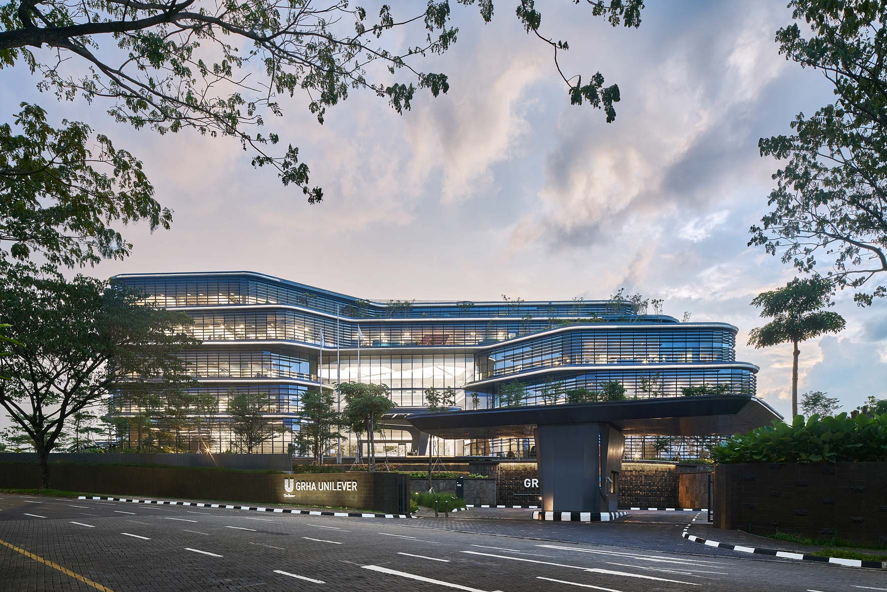 Unilever Office Jakarta, Indonesia. Architectural photographer Asia